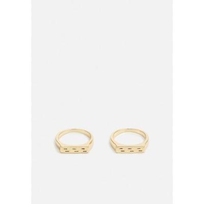 バートン リング メンズ アクセサリー GREEK KEY BAND 2 PACK - Ring - gold-coloured