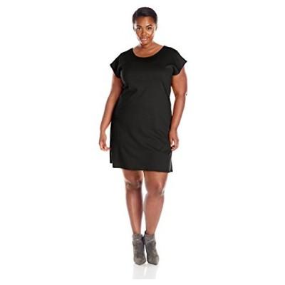 スター Vixen レディース Plus-サイズ Flutter スリーブ Sheath ドレス, ブラック, 2X(海外取寄せ品)