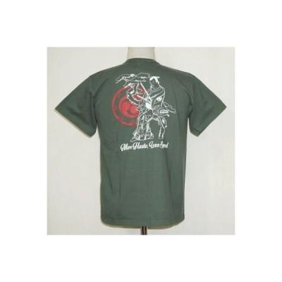 SJST18-106-モスグリーン-サムライジーンズ半袖Tシャツ18-106-SJST18106-SAMURAIJEANS-サムライジーンズTシャツ