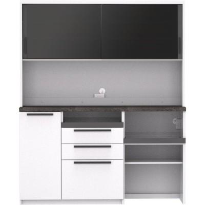 家具 収納 キッチン収納 食器棚 キッチンストッカー 食品ストッカー Boulder/ボルダー 石目調天板キッチンシリーズ ボード 幅160cm 奥行45cm H87612
