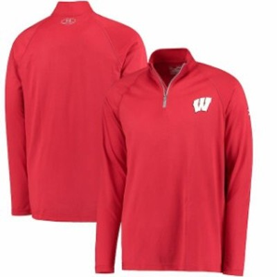 Under Armour アンダー アーマー スポーツ用品  Under Armour Wisconsin Badgers Red Tech Performance Quarter-Zip Pullo
