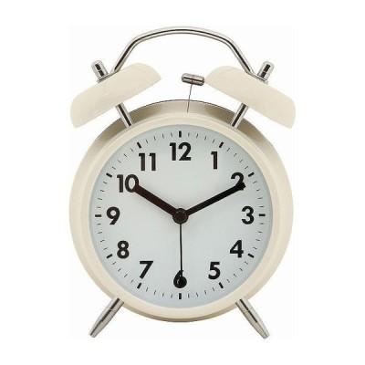 置時計 ベル W117×D55×H170mm スチール ウォッチ おしゃれ アイボリー 代引不可
