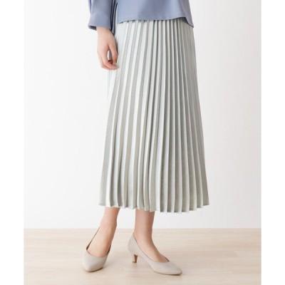 スカート キラキラプリーツスカート