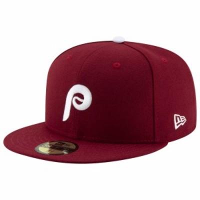 ニューエラ New Era メンズ キャップ 帽子 MLB 59Fifty Authentic Cap MLB Philadelphia Phillies Red/White Alt 2