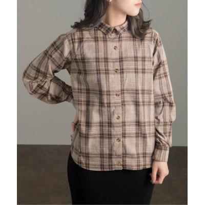 シャツ ブラウス カシュクールシャツ/チェックシャツ/【WEB/EC限定商品】