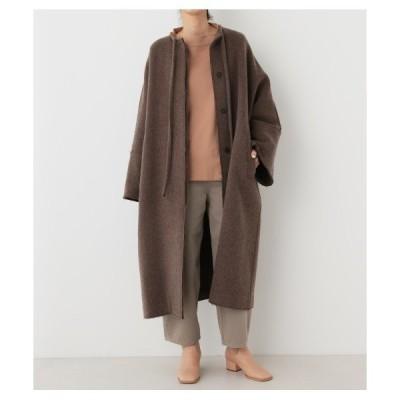 アウター no collar long coat(ノーカラーロングコート)