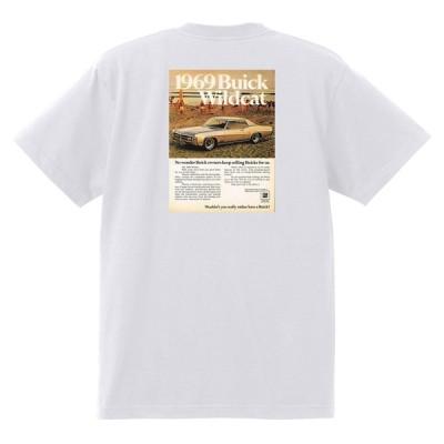 アドバタイジング ビュイック 白210 Tシャツ 1969 リビエラ ルセーブル ワイルドキャット gs350 スカイラーク