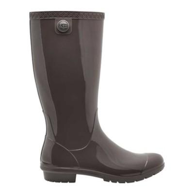 アグ スニーカー シューズ レディース Shaye Rain Boot (Women's) Charcoal PVC