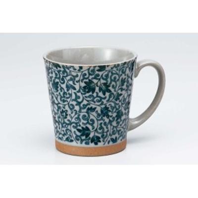 マグカップ コップ コーヒー/ 土物サラサ青 マグ /カフェオレ 紅茶 スープ ギフト 業務用 家庭用 おしゃれ かわいい インスタ