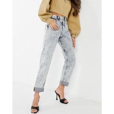 エイソス ASOS DESIGN レディース ジーンズ・デニム ボトムス・パンツ High Rise 'Slouchy' Mom Jeans In Acid Wash アシッドウォッシュ