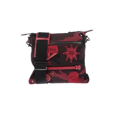 VALENTINO GARAVANI メッセンジャーバッグ ダークブラウン 紡績繊維 / 革 メッセンジャーバッグ