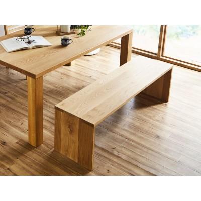 EL146 凛 無垢材ダイニングテーブルセット(チェア肘無し) W1650 【開梱設置・組み立て付き】ホワイトオーク[SK146]