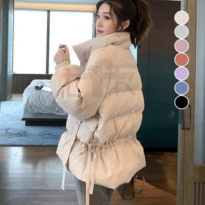 レディース コート ショートコート 中綿 ダウン コットン 綿入れ アウター 大きいサイズ ゆったり 通勤 韓国風 ダウンジャケット 可愛い 防風防寒 暖かい