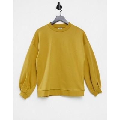 ヴェロモーダ レディース パーカー・スウェットシャツ アウター Vero Moda Aware sweatshirt in mustard Mustard