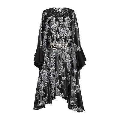 フェンディ FENDI ミニワンピース&ドレス ブラック 38 レーヨン 50% / 金属繊維 32% / シルク 18% ミニワンピース&ドレス