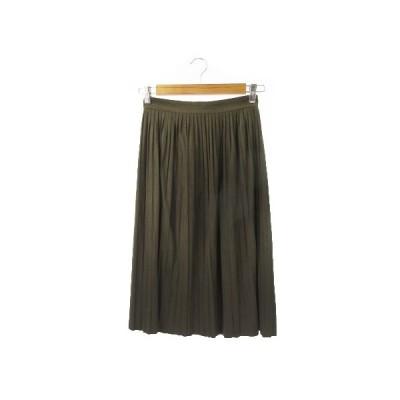【中古】ザラ ベーシック ZARA BASIC スカート プリーツ ロング ミモレ XS 緑 グリーン /YH11 ☆ レディース 【ベクトル 古着】