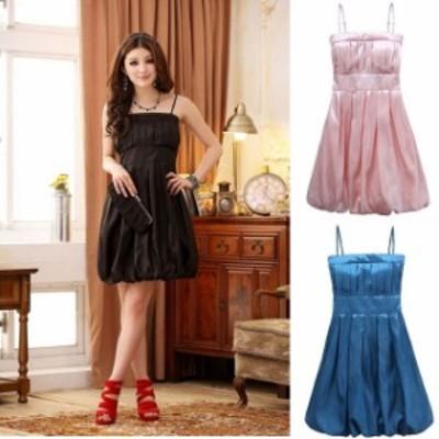 即納 ミニドレス パーティードレス ミニ ドレス ワンピース 膝丈 袖なし ノースリーブ 大きいサイズ バルーンスカート