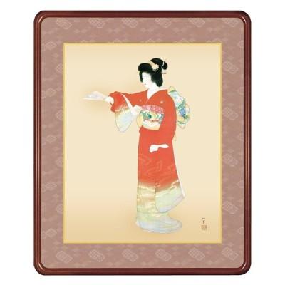 上村松園 作品 「序の舞」 高級額装 壁掛け - アートの友社