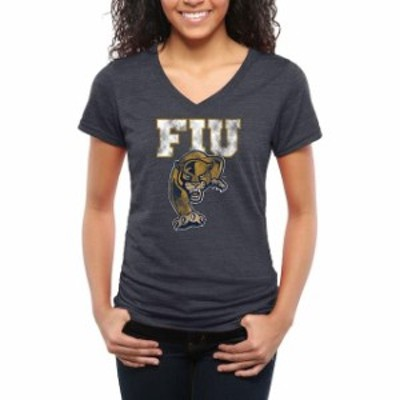 Fanatics Branded ファナティクス ブランド スポーツ用品  FIU Panthers Female Navy Classic Primary Tri-Blend V-Nec