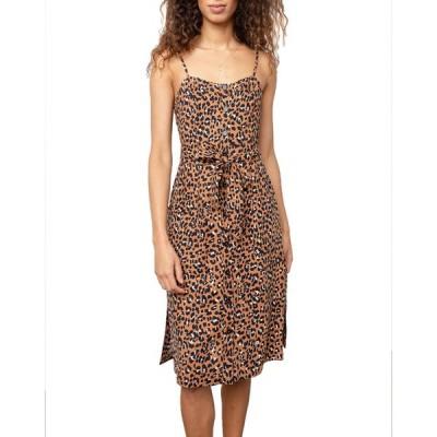 レイルズ レディース ワンピース トップス Evie Leopard-Print Midi Dress
