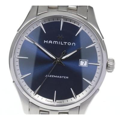 箱、保付き☆美品【HAMILTON】ハミルトン ジャズマスター デイト H324510 クォーツ メンズ