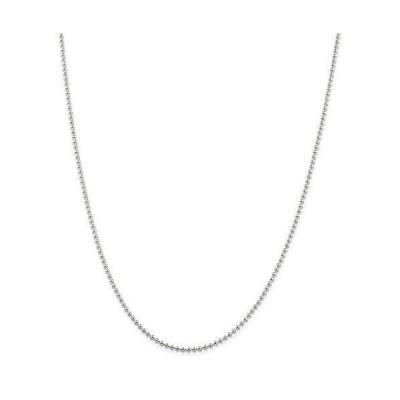 """ネックレスRyan Jonathan Fine Jewelry Sterling Silver 2mm Beaded Necklace, 16"""""""