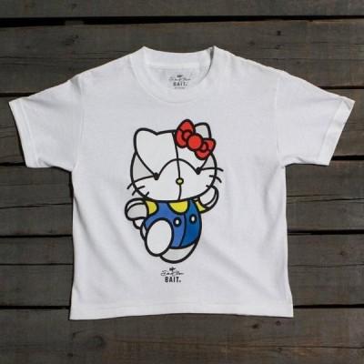 ユニセックス 帽子 キャップ BAIT x David Flores Hello Kitty Youth Tee (white)