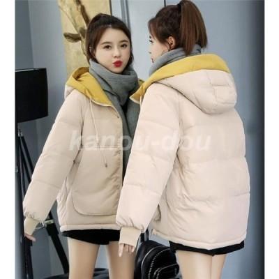 中綿ジャケット レディース ブルゾン LKSDY29689 中綿コート ダウンジャケット アウター  冬 防寒 ダウンコート フード付き