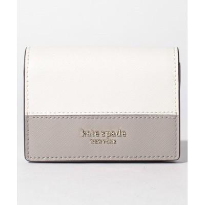 【ケイトスペードニューヨーク】 kate spade new york PWRU7852 キーリングウォレット レディース ホワイト F kate spade new york