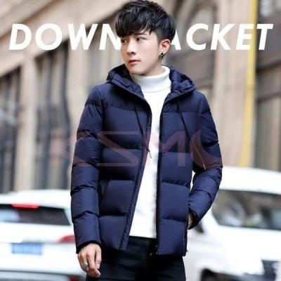 ダウンジャケット メンズ 中綿 ジャケット キルティングジャケット フード付き アウター ダウンコート 防風 防寒 大きいサイズ 冬物 2020