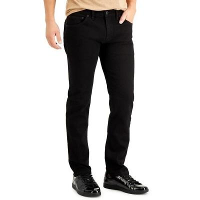 アイエヌシーインターナショナルコンセプト デニムパンツ ボトムス メンズ INC Men's Slim Straight Jeans,  Black Wash