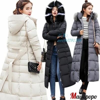 ファッションで上品に見える超ロング中綿ダウンコート!普段のコーデに気軽に合わせられて 中に着こんでもすっきり 見えるおしゃれな秋冬用アウターです