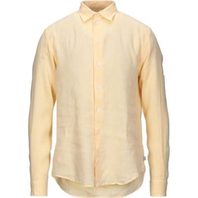 アルマーニ ARMANI COLLEZIONI メンズ シャツ トップス Linen Shirt Apricot