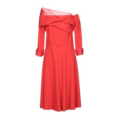 BOTONDI MILANO ミニワンピース&ドレス レッド 44 レーヨン 55% / アクリル 45% / シルク ミニワンピース&ドレス