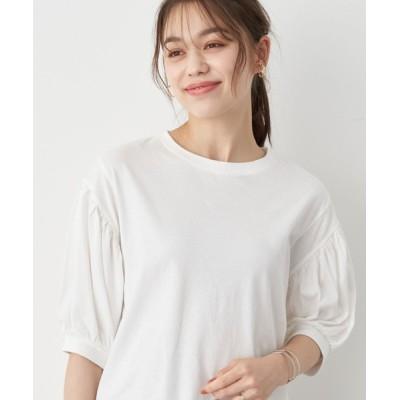 tシャツ Tシャツ きれい見えカットソー(袖ぽよ) *