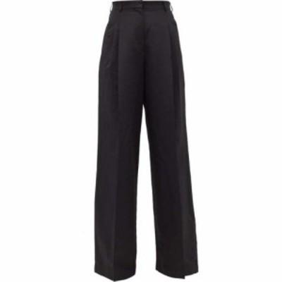 ロシャス Rochas レディース ボトムス・パンツ Pleated-front wide-leg trousers Black
