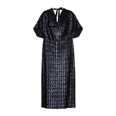 ローラン ムレ ROLAND MOURET 7分丈ワンピース・ドレス ダークブルー 10 ポリエステル 100% 7分丈ワンピース・ドレス