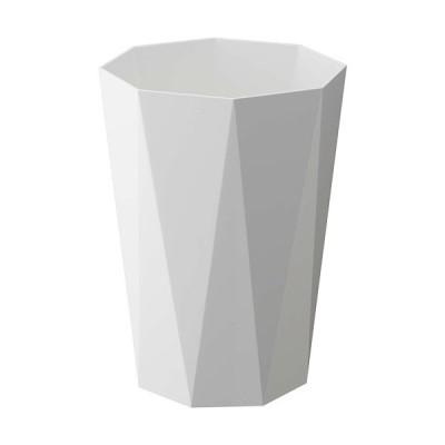 山崎実業(Yamazaki) トラッシュカン ダイヤ ホワイト 6411 GB-DIA WH ゴミ箱 ダストボックス おしゃれ雑貨