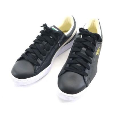 未使用 プーマ バスケット クラシック スニーカー 27.5cm PUMA 351912 02 レザー 天然皮革 本革 黒メンズ200531