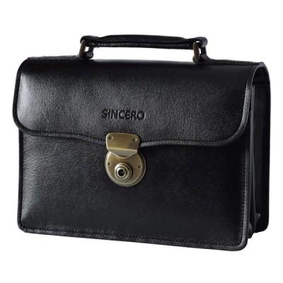 (シンセーロ)SiNCERO セカンドバッグ メンズ 本革 日本製 A5 wr-1018 (クロ)