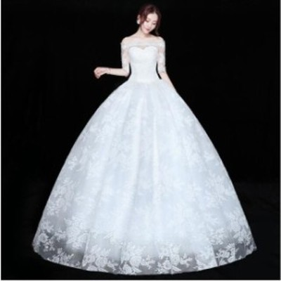 ワンピース イブニングドレス ロング フォーマル パーティードレス 結婚式 同窓会 二次会 花嫁プリンセスライン ウエディングドレス ブラ