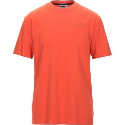 ディアドラ DIADORA メンズ Tシャツ トップス T-Shirt Orange