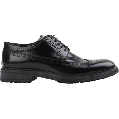 クリスティアーノ グアルティエリ CRISTIANO GUALTIERI メンズ シューズ・靴 laced shoes Black