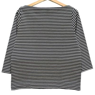 JOURNAL STANDARD relume 17AW クボウテンジクボートネックTシャツ ボーダーカットソー ブラック×ホワイト サイズ:FREE