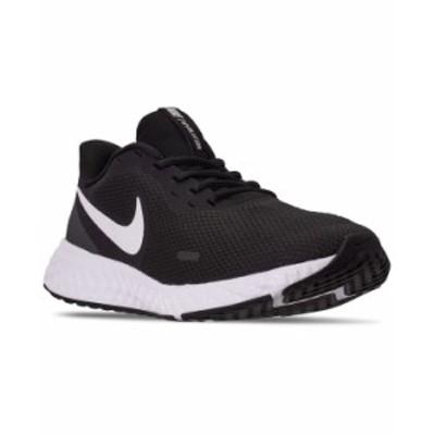ナイキ メンズ スニーカー シューズ Men's Revolution 5 Running Sneakers from Finish Line Black White Anthracite