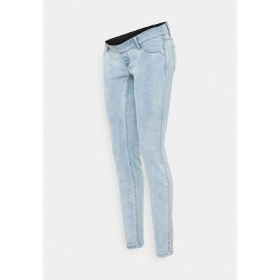 ママリシャス デニムパンツ レディース ボトムス MLOMAHAELASTICS  - Slim fit jeans - light blue denim
