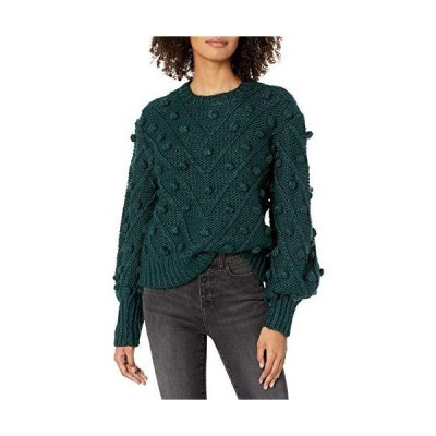C/Meo Collective Women's Trade Places Pom Knit Sweater, Forest, m並行輸入品 送料無料