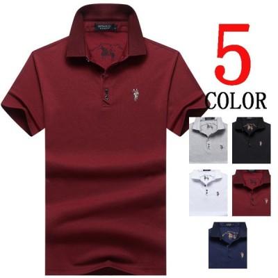 ポロシャツ メンズ 半袖Tシャツ  半袖 ポロtシャツ 刺繍 夏tシャツ ゆったり カジュアル おしゃれ トップス 夏物 大きい