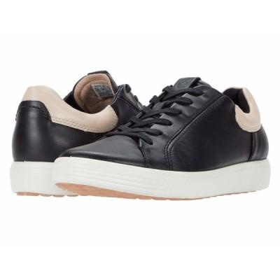 エコー スニーカー シューズ レディース Soft 7 Street Sneaker Black/Rose Dust
