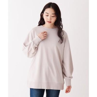 tシャツ Tシャツ 【M-3L】コットンタッチ2WAYプルオーバー